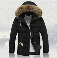 Wholesale Clearance Long Down Coat - Down jacket men quality clearance men long thickening winter coat and big hair collar winter jacket,