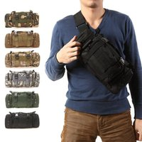 Wholesale Tactical Molle Backpack Waterproof - 3L 6L Outdoor Military Tactical Waist Pack Waterproof Oxford Molle Camping Hiking Pouch Backpack Bag Waist Bags mochila militar