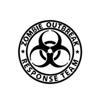 Wholesale Walking Dead Vinyl - 2017 Hot Sale Zombie Outbreak Response Team Walking Dead Car Decal Window JDM