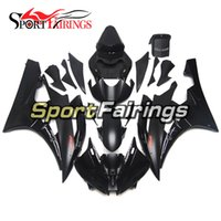 Carrinhos de injeção para Yamaha YZF 600 R6 YZF-R6 06 07 2006 2007 ABS Motorcycle Fairing Kit Bodywork Matte Black Red Decals Covers Covers