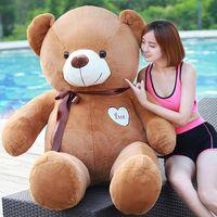 ingrosso peluche farcito gigante-Hot New TEDDY BEAR Bambole di peluche Giant Teddy Bear Bambole di pezza Regalo di compleanno Regali di Natale animali bambole della peluche spedizione gratuita