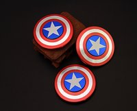 Wholesale Metal Men Movie - Metal fingertips gyro Creative Shield Hand Spinner Iron Man Fidget Alloy Puzzle Toys EDC Autism ADHD Finger Gyro Toy Gifts BY DHL
