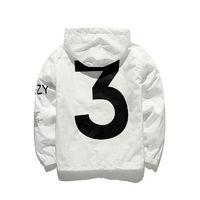 Wholesale White Windbreaker Wholesale - Designer Brand Jacket Mens KANYE Hip Hop Black White Windbreaker Jackets Unisrx Streetwear Fashion Outdoor Uniform Coat CCA7022 2pcs