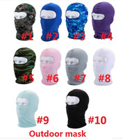 chapeaux cyclistes achat en gros de-Sport Ski Masque Vélo Vélo Masque Casquettes Moto Barakra Chapeau CS Tête De La Poussière Coupe-vent définit Camouflage Masque Tactique k003