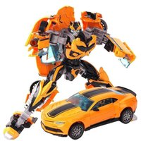 Wholesale Robot Puzzle - Educational Toy for boys Transformer Toys Robot Puzzle Children new model toy Christmas gift Yellow color toys for over 3 years kids