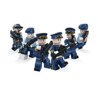 pacific ocean plastic - 6pcs set Military The Pacific Ocean War Air Force Army Soldiers Building Blocks Bricks Toys Children Gift