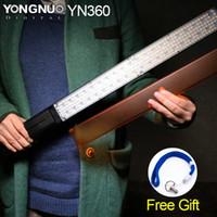 combos vidéo achat en gros de-Gros-YONGNUO YN360 GLACE / Pixel Stick Combo, Baguette LED vidéo lumière 3200k 5500k RVB coloré Photo LED Stick