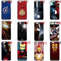 Wholesale Hulk Iphone Cases - For iphone 6S 6 6 PLUS 7plus 7 The Avengers iPhone Case Age of Ultron PC Caption America Thor Hulk HawkEye Iron Back Cover by Free Shipping