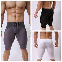 Wholesale Fitness Swimsuits - Swimsuit Men's Sportswear New Sportswear Fitness For Men Running Tights Shorts Trunks Bodybuilding Short Brave Person