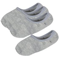 Wholesale Ladies Show Socks - Wholesale- MYTL 2 Pairs Gray Elastic Cuff No Show Low Cut Boat Loafer Socks for Lady