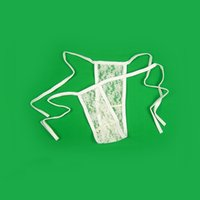 Wholesale Low Rise Mens Tights - Low-waist Mens Seamless Transparent Lace Thongs Sexy Men's Penis Pouch Erotic Sex G-strings Fancy Tight Underwear