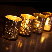 easter gold candle holders artifacts glass votive candle holder speckled silvery gold glass votive tealight - Gold Candle Holders