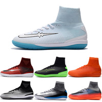 Wholesale Man Spike Street Shoe - Drop Shipping Wholesale Football Shoes Men MercurialX Proximo II Street Indoor IC Soccer Boots 2017 New High Quality Sport Shoes Size 6.5-11
