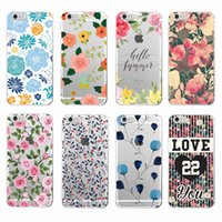 Wholesale Iphone4 Flower Cases - Fashion Rose Colorful Flower Transparent TPU Cellphone Cover Case for iPhone4 5 5s 6 6Plus 7 7Plus Samsung