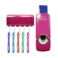 dispensador para baño al por mayor-Venta al por mayor- 2017 Conjuntos de baño de alta calidad Nuevo dispensador automático de pasta de dientes Conjunto de portacepillos de dientes