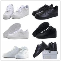 Wholesale 2017 forceing Classical All White black low high cut men women Sports sneakers Skateboarding Shoes Forceing one skate Shoes eur