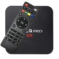 Wholesale Uk Sd - Android 6.0 MXQ pro TV Box Quad Core 8G 1G Amlogic S905X Bluetooth Smart TV Box suport 3D WIFI SD Card