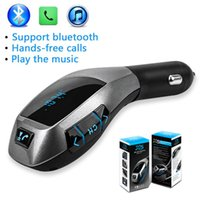 Trasmettitore FM Bluetooth Wireless adattatore Radio Car Kit con caricatore per auto USB AUX Audio USB Caricabatteria Porta LCD Display TF Slot