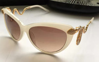 Wholesale Brown Rc - ROBERTO'S Women RC 889 Ivory Gold Brown Gradient Lens Sunglasses Cat Eye Eyewear Brand New with Box
