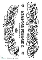 Wholesale Flowers Sketches - Wholesale- LC2819 21*15cm Large Fashion Tatoo Sticker Sketch Big Flower English Letters Crown Designs Cool Temporary Tattoo Stickers New