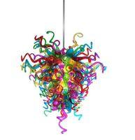 cristal italiano de murano al por mayor-AC 110 V 120 V 220 V 240 V multicolor de soplado dormitorio lámpara de cristal de luz decorativos de cristal de Murano Nuevo Estilo Italiano Araña