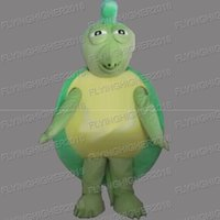 Wholesale Turtle Christmas Dress - Higher quality tortoise turtle Mascot Costume adults fruit christmas Halloween Outfit Fancy Dress Suit EMS Free Shipping