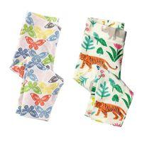 Wholesale Animal Pattern Pants - Baby Girls Leggings 2017 Brand Skinny Jersey Pencil Pants Pattern Floral Print Cotton Girl Pants 2 Pack