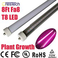 envío gratis de hidroponía al por mayor-Envío gratis 25 unids Full Spectrum LED Lámpara Hidropónica para Plantas Médicas y Bloom Fruit T8 LED Tubo Lámpara Color Rosa