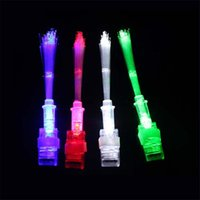 Wholesale Cheep Gifts - 500pcs Cheep Optical Fiber LED Bright Finger Ring Lights Rave Party Glow Kids Toys Party Favor Gifts Free Shipping