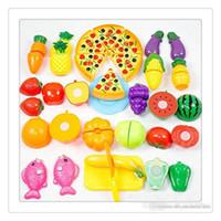 ingrosso giocattolo da cucina gratuito-DressUp Gioca Giocattoli Cibo Taglio Giocattoli Frutta Verdura Cucina Taglio Sviluppo precoce Educazione Giocattolo per bambini Giocattoli per bambini Spedizione gratuita
