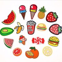 Wholesale Cheap Bedding For Kids - Mixed 17PCS Rainbow Fruit Patch Iron On Cartoon Patches Sequin Kids Cheap Embroidered Cute Patches For Clothes Stickers