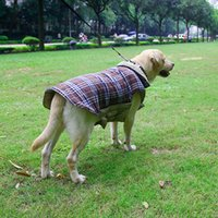 Wholesale New Designs Female Coats - Dogs Jackets Pet Jumpsuit Waterproof Dual Sides Usable Lattice Pattern Design Durable Air Peameable Dogs Clothes 7 Sizes Available--XXXL
