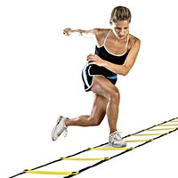 Wholesale Speed Training Equipment - Trained Agility Ladder Durable 9 rung 16.5 Feet 5M Agility Ladder for Soccer Football Speed Training With Carry Bag Fitness Equipment