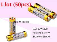 Wholesale 27a 12v battery resale online - 50pcs A V A12V V27A L828 dry alkaline battery Volt Batteries