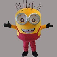 Wholesale Minions Costumes - Red Clothes Minions Adult Size Mascot Costume Fancy Birthday Party Dress Halloween Carnivals Costumes With High Quality