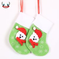 Wholesale Colored Christmas Trees - 2017 Christmas socks Christmas supplies Christmas scenes decorations Christmas tree mini socks