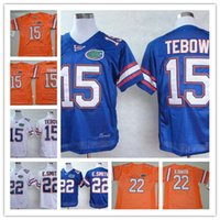 Wholesale Mens Army Shorts - Mens Florida Gators Tim Tebow College Football Jerseys stitched #22 Emmitt Smith Florida Gators NCAA throwback Jersey S-3XL