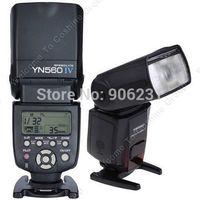 yn flash al por mayor-¡Envío al por mayor-libre! YONGNUO YN-560 IV Flash Speedlite Wireless Master YN560IV 2.4GHz Trigge incorporado GN58 Fn