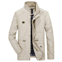 китай ветровка оптовых-Wholesale- China Import Business Male Hooded Trench Coats Plus 5XL High Quality Mens Winter Coat ing Outwear Windbreaker For Men S2269