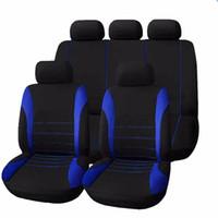 asientos de coche de cubierta completa al por mayor-Asientos de automóvil universales cubren la cubierta completa de los accesorios interiores del automóvil de la cruce del asiento cubierta llena para el cuidado del coche que envía libremente