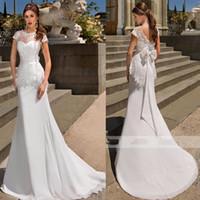 Wholesale Mermaid Weddingdress - Elegant Sexy Lace Mermaid Wedding Dress Satin Wedding Gowns Weeding Bridal Bride Dresses Weddingdress robe de mariage