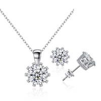 Wholesale Hip Hop Pendant Brand - 925 silver hip hop jewelry Double Fair Brand Unique Crown Cubic Zirconia Necklaces &Pendants Silver Chain Fashion Jewelry For Women
