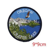 Wholesale Tourism Souvenirs - Oregon crater lake state tourism national park souvenir iron-on patch