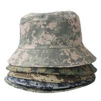 Wholesale Korean Camo - 2017 Wholesale Fashion Camo Unisex Korean men and women camouflage casual simple Bucket hat England Fisherman Hat