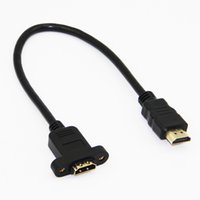 Wholesale Extension Hdmi Male Female - Gold Plated HDMI Extension Cable Male to Female With Screw Panel Mount V1.4 1080P For PSP HDTV