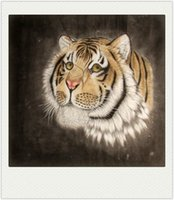 Wholesale Chinese Xuan Paper - 2017 NEW Chinese Traditional traditional paint Handmade Beautiful Classical Tiger In The Mountain High-end Xuan paper Home Decoration