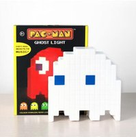 Wholesale Ghost Usb - PAC-MAN Ghost Light USB Music Atmosphere Lights Halloween Christmas Decoration Lights Party Mode Reacts To Music Party Decor CCA7639 36pcs