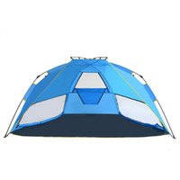 Wholesale Two Person Beach Tent - Summer Camping Tent Sun Proof SUV 3-4 Person Tents Outdoor Beach Casual Sleeping Sun Shelter Canopy Fishing Awning Garden Sun-Shading Tent