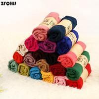 Wholesale Muffler Scarf For Men - Wholesale- ZFQHJJ 10pcs LOT 180cmx90cm Women Shawls Scarf MUSLIM HIJAB Muffler Casual Long Plain Scarves Gift for Ladies 21 colors