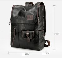 Wholesale Leather Notebooks For Men - Vintage Genuine Leather Backpack for Men as Laptop School College Bookback for Travelling Camping Notebook Computer 15.6 Inches bag106